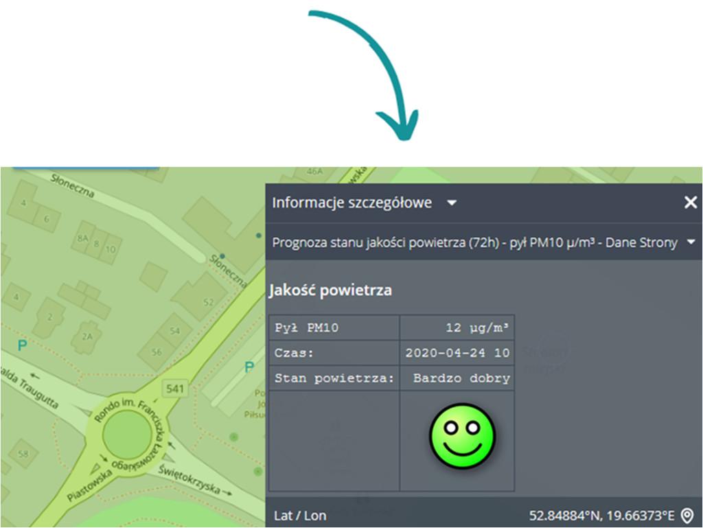 Prognoza stanu jakości powietrza dla miasta Sierpc
