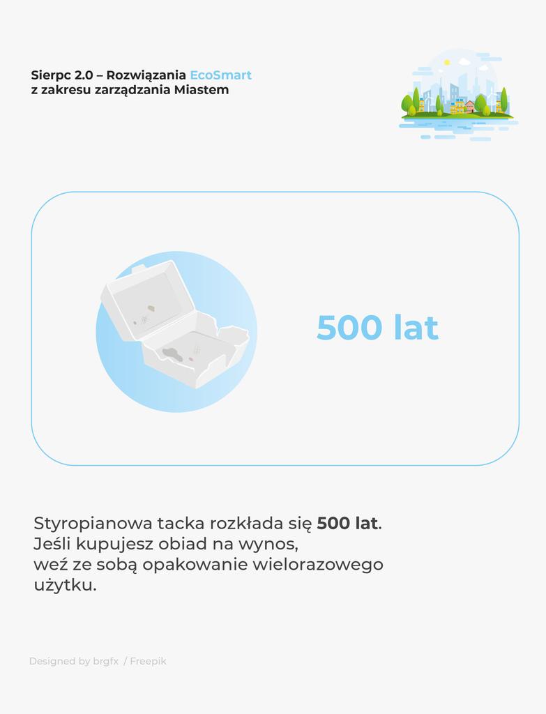 Styropianowa tacka